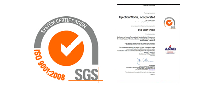Injection Works ISO 9001 Certificate