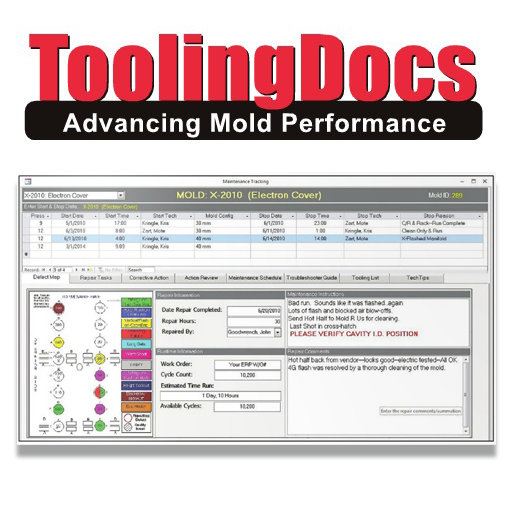 Injection Works now offers clients better visibility of their tooling asset care and service with Mold Trax 6.0 software from ToolingDocs